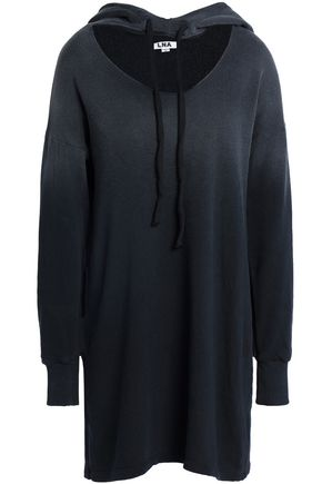 LNA Cutout dégradé cotton-fleece hooded sweatshirt