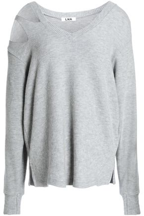 LNA Cutout mélange stretch-Tencel sweatshirt