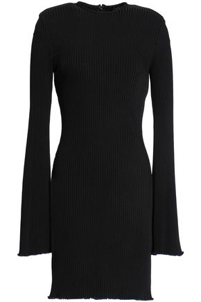 ELLERY Ribbed-knit mini dress