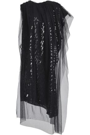 MAISON MARGIELA Layered sequined tulle dress