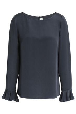 GOAT Fluted silk crepe de chine blouse
