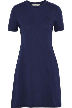 ÊTRE CÉCILE Printed mélange cotton-jersey mini dress