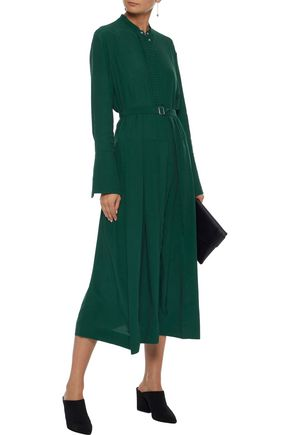 Florence Ruffle Trimmed Crepe De Chine Midi Dress by Iris & Ink
