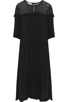 BAUM UND PFERDGARTEN Aamina mesh-paneled ruffled jacquard dress