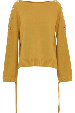 BAUM UND PFERDGARTEN Carajean button-embellished knitted sweater