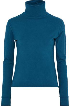 SIMON MILLER Ramo cotton-blend jersey turtleneck top