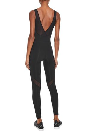 IRIS & INK Annika mesh-paneled stretch bodysuit
