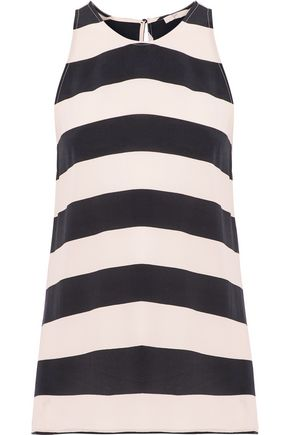 JOIE Kia striped washed-silk top