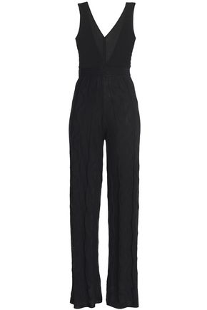 M MISSONI Crochet-knit cotton-blend jumpsuit
