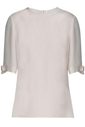 GOAT Bow-embellished silk crepe de chine top