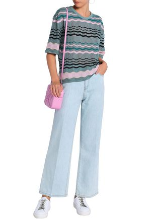 M MISSONI Crocheted cotton-blend top