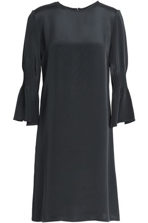 GOAT Fluted silk crepe de chine mini dress