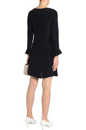 GOAT Fluted silk-satin mini dress