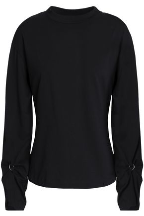 3.1 PHILLIP LIM Cutout mélange cotton-jersey top