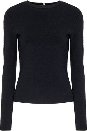 OSCAR DE LA RENTA Pointelle-knit sweater
