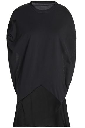 MAISON MARGIELA Open-back draped cotton-jersey and satin-crepe top