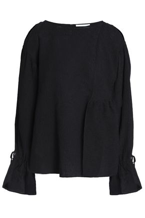 3.1 PHILLIP LIM Cutout crinkled cotton-blend blouse