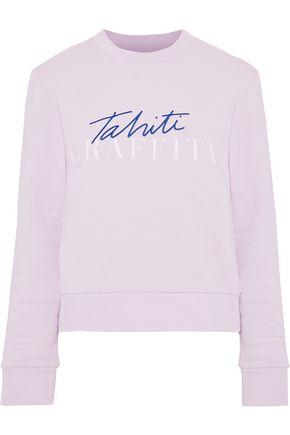 ÊTRE CÉCILE Embroidered printed cotton-fleece sweatshirt