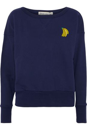 ÊTRE CÉCILE Appliquéd French cotton-terry sweatshirt