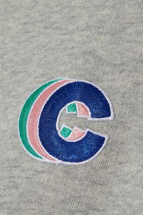 ÊTRE CÉCILE Appliquéd French cotton-terry sweatshirt