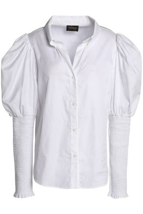 PETERSYN Shirred cotton-twill shirt