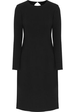 OSCAR DE LA RENTA Cutout wool-blend crepe dress