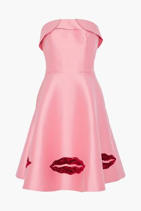 SACHIN & BABI Levent strapless sequin-embellished satin-faille dress