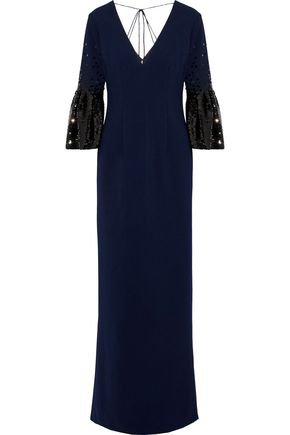 SACHIN & BABI Tower sequin-embellished cady gown