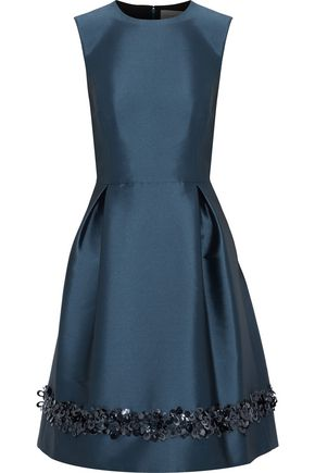 SACHIN & BABI Sinop sequin-embellished duchesse satin-twill dress