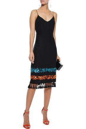 SACHIN & BABI Boshorus embellished silk slip dress