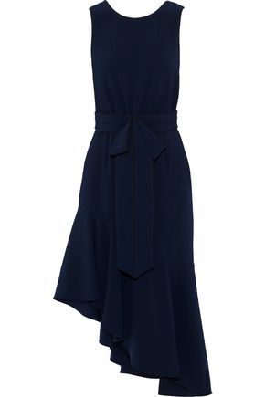 SACHIN & BABI Merle asymmetric bow-embellished crepe dress