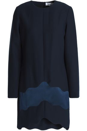 b2c7cc3004 CARVEN Satin-paneled crepe mini dress
