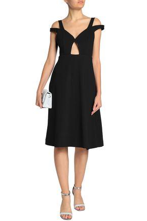 CARVEN Cold-shoulder cutout crepe dress
