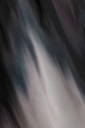 BAILEY 44 Grande Jete off-the-shoulder dégradé chiffon top