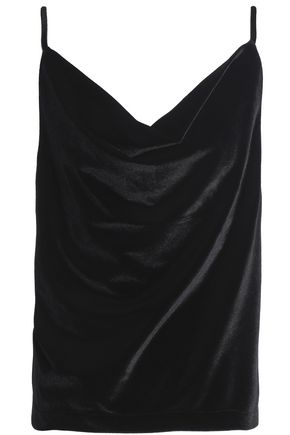 OAK Draped velvet camisole