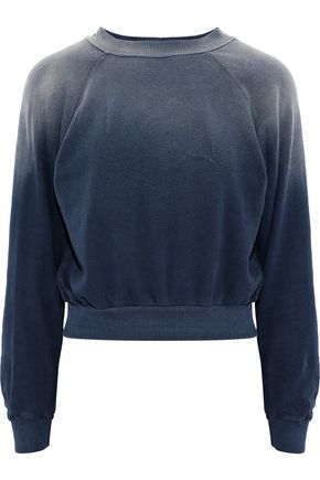 LNA Bayside degradé cotton-jersey sweatshirt