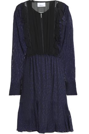 3.1 PHILLIP LIM Ruffle-trimmed fil coupé silk-blend georgette dress