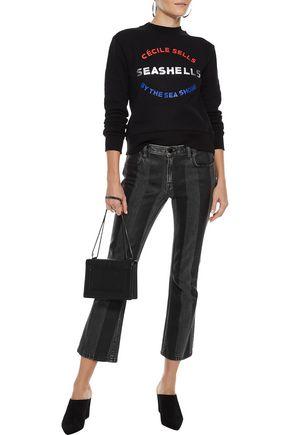ÊTRE CÉCILE Metallic printed cotton-fleece sweatshirt