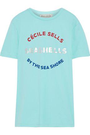ÊTRE CÉCILE Metallic printed cotton-jersey T-shirt