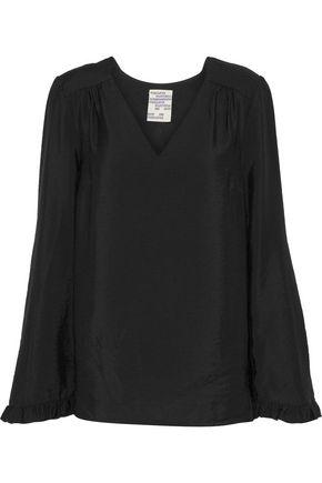 BAUM UND PFERDGARTEN Mala ruffle-trimmed modal-blend blouse