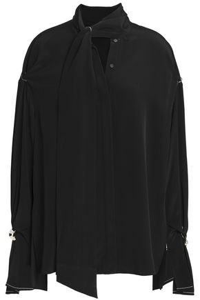 3.1 PHILLIP LIM Draped silk crepe de chine blouse