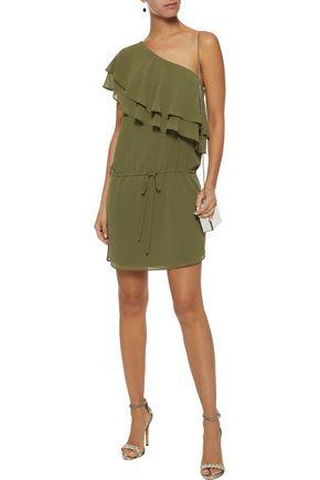 Haute Hippie Ruffle Tank Mini Dress