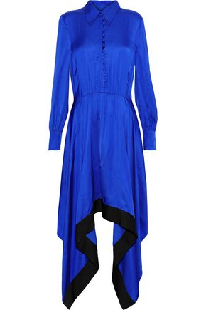 BAUM UND PFERDGARTEN Abya draped satin shirt dress