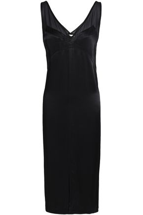 BY MALENE BIRGER Georgette-trimmed satin-crepe dress