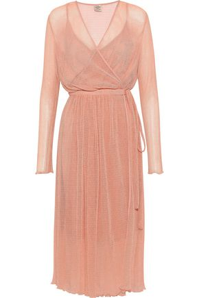 BAUM UND PFERDGARTEN Accassia point d'esprit wrap dress