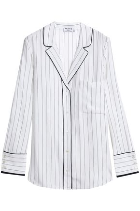 FRAME Pinstriped silk shirt