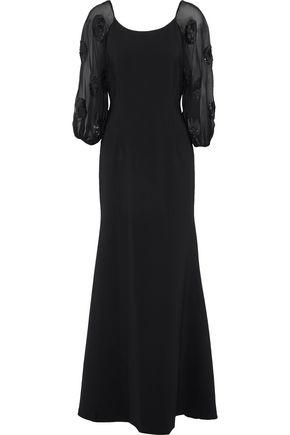Charlotte Embellished Chiffon Paneled Crepe Gown by Sachin & Babi