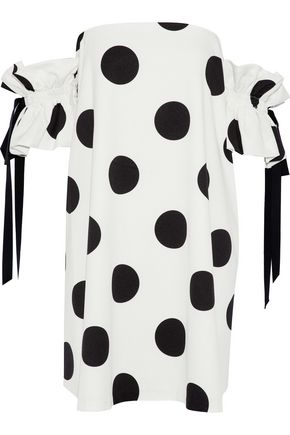 SACHIN & BABI Mayya off-the-shoulder polka-dot faille mini dress
