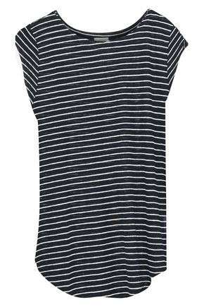 JOIE Adelise striped linen-jersey top