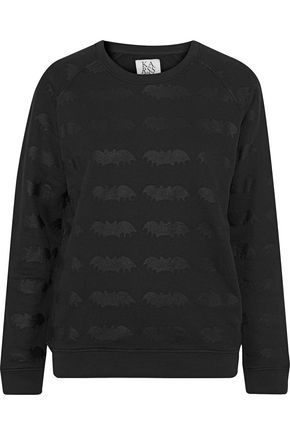 ZOE KARSSEN Karssen printed cotton-blend terry sweatshirt